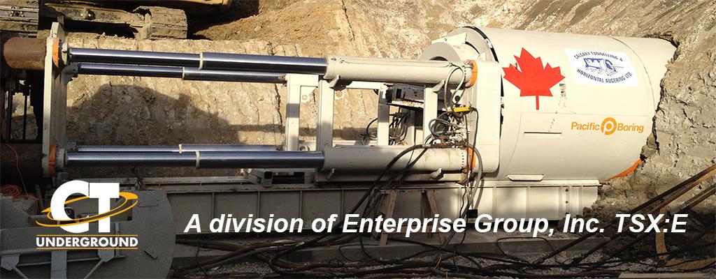 Enterprise Group's Subsidiary Calgary Tunneling Taking
